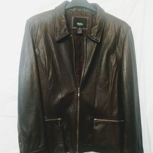 Mossimo Zipper Front Leather Jacket